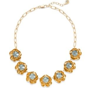 Tory Burch Crystal Rose Statement Necklace